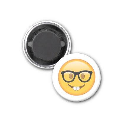Nerd with Glasses - Emoji Magnet