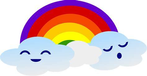 pelangi awan lucu gambar vektor gratis  pixabay