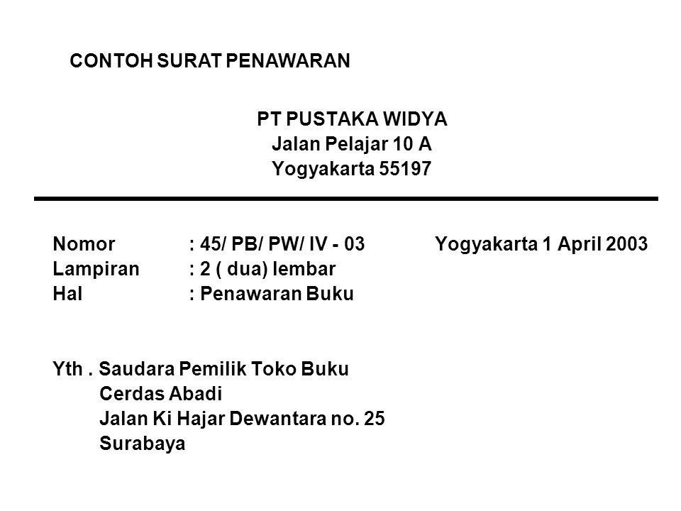 bahasa indonesia surat niaga ppt