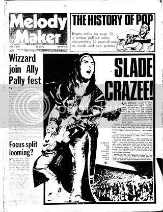 Melody Maker July 7th 1973