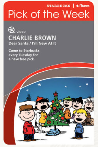 Starbucks iTunes Pick of the Week - Charlie Brown - Dear Santa/I'm New At It [video]