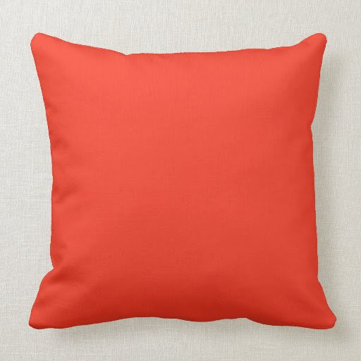 Solid Colored,Red Throw Pillow from Zazzle.