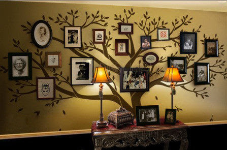 Family Tree Wall Decal Photo Frame Tree Decal Family Tree Wall