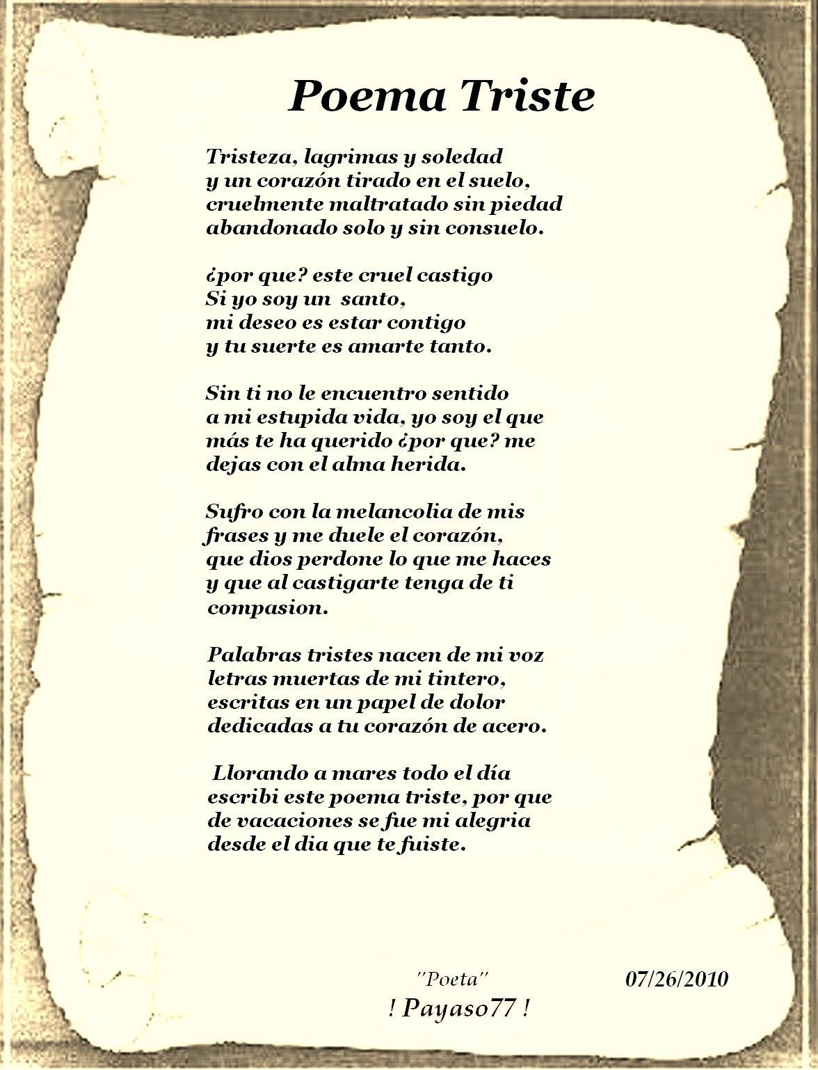Poemas Tristes Y Melancolicos Para Reflexionar Y Compartir Mil