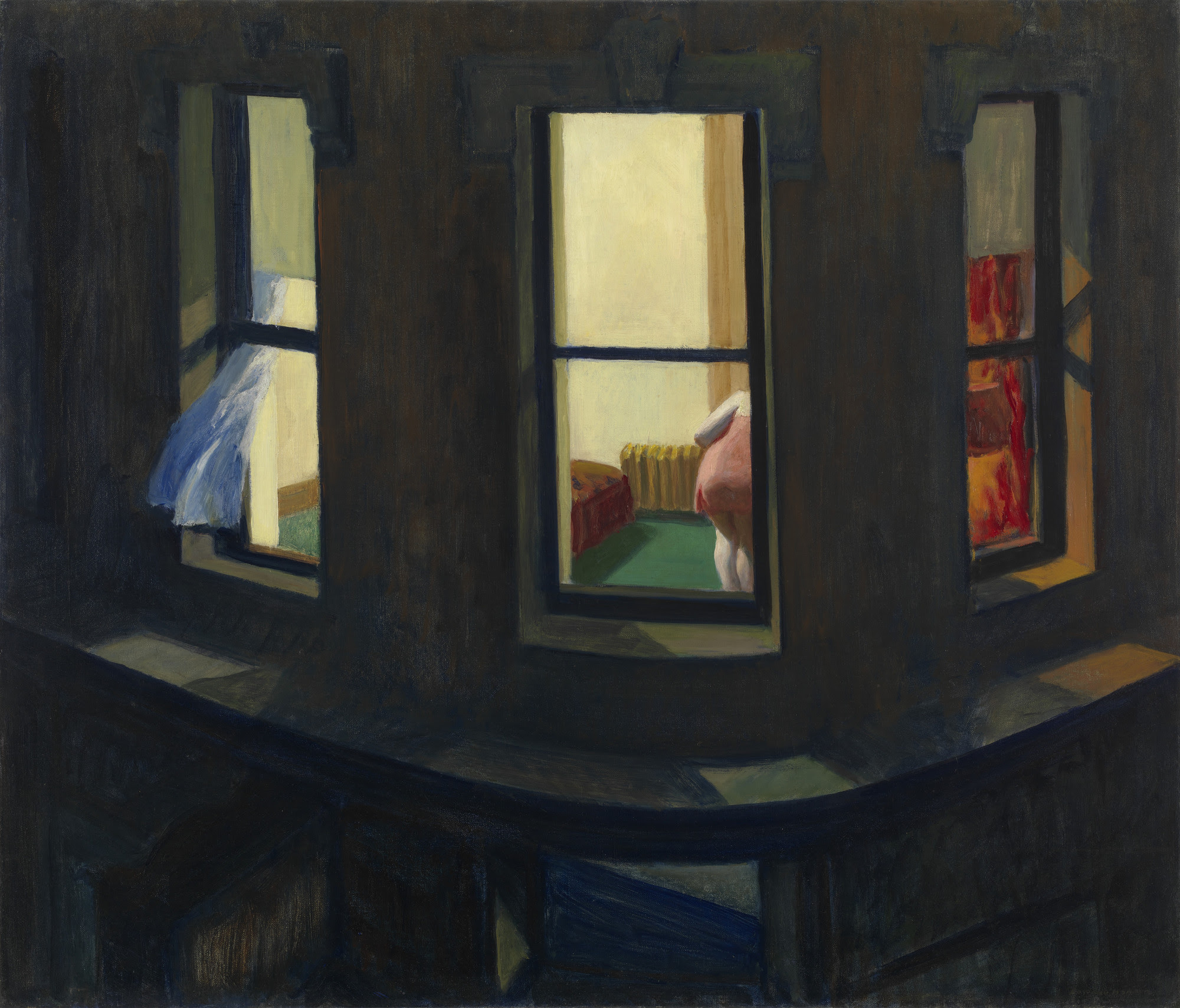 Image result for edward hopper night windows painting