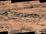 Erosion Resistance at 'Pink Cliffs' at Base of Martian Mount Sharp