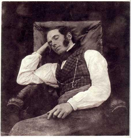 Nicolaas Henneman, dormido hacia 1844-45 por Henry Fox Talbot