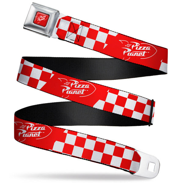 Toy Story PIZZA PLANET Logo Full Color Red/White Seatbelt ...