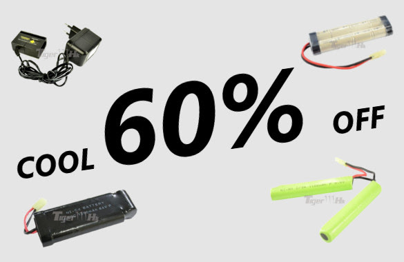 Cool Battery and Battery Charger 60% off