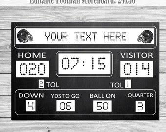 Football scoreboard | Etsy