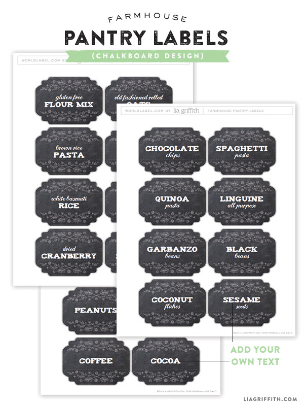 Farmhouse Pantry Labels for You to Edit and Print | Worldlabel Blog
