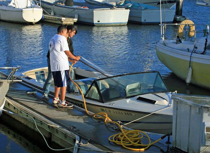 Washing the Ski Boat