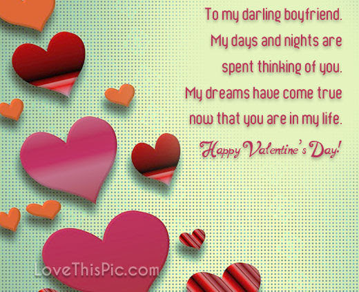 To My Darling Boyfriend Happy Valentines Day Pictures Photos And
