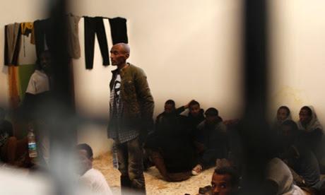migrant detention centre in Zawiya, Libya