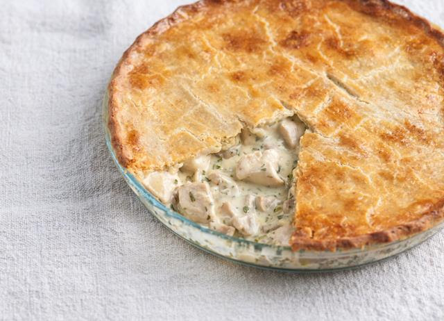 Chicken and Mushroom Pie Recipe with Cheddar Pastry ...