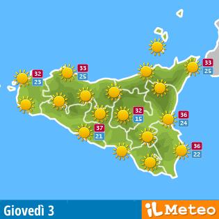Previsioni Meteo per Sabato 3 Novembre 2018 a Siculiana.