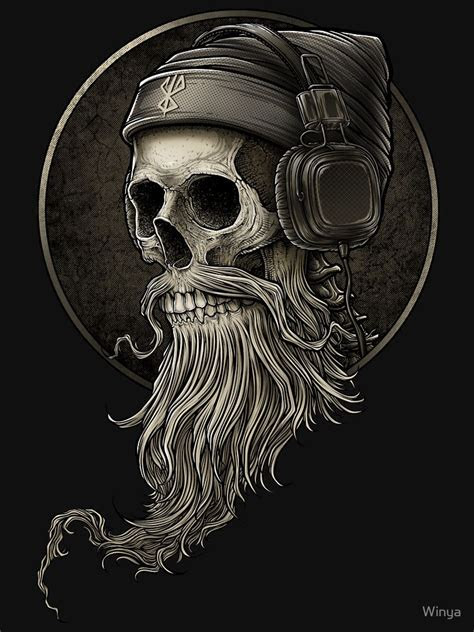 winya   slim fit  shirt behance skull tattoos