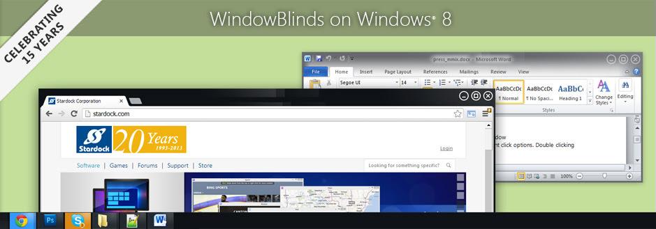 WindowBlinds on Windows 8