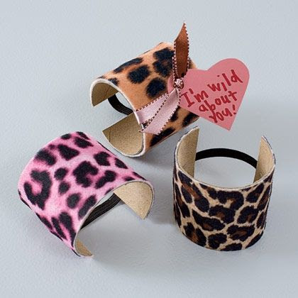 Animal attraction fun jungle print wristbands. http://spoonful.com/crafts/animal-attraction