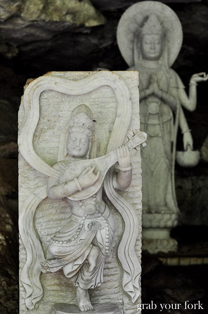 Carvings at Sam Poh Tong Chinese Buddhist Temple