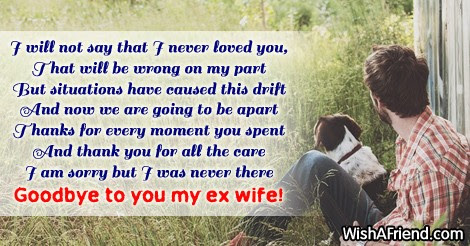 I Will Not Say That I Breakup Message For Wife