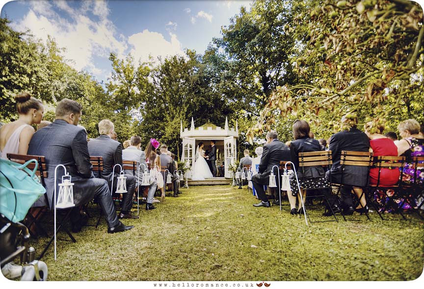 Yaxley Hall Wedding Photography - Outdoor Ceremony