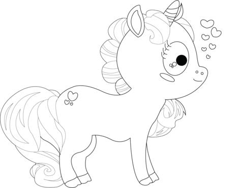 Dibujo De Dibujo De Unicornio Para Colorear Dibujos Para Colorear