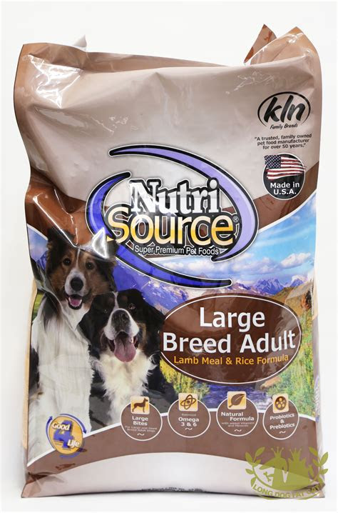 nutrisource lamb  rice large breed adult dog food