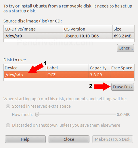 Erase Disk (Make sure you have data backed up first)