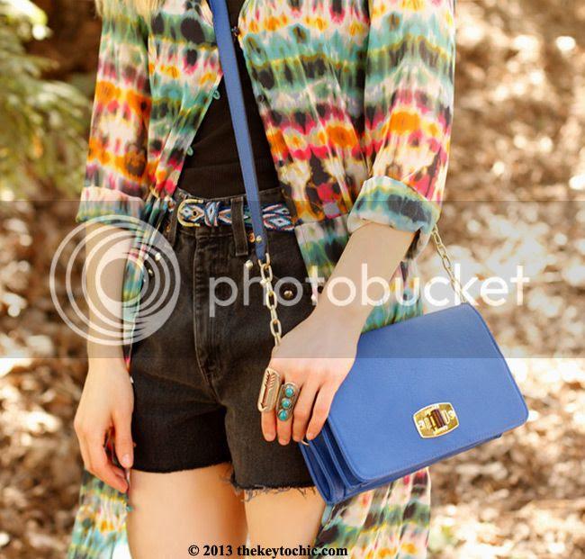 Zara tie-dye dress, DIY vintage Levi's, L.A. street style