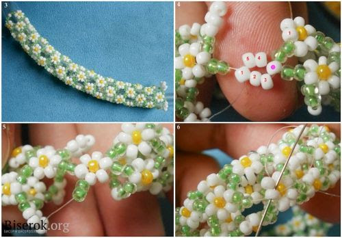 Daisy tube  gull tute.  Good pix but translate.  #Seed #Bead #Tutorials