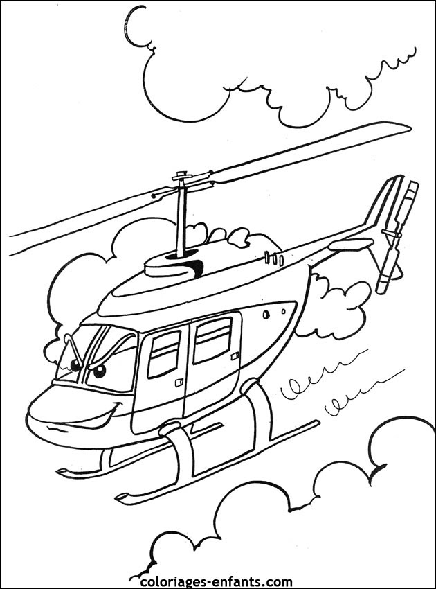 Coloriage Helicoptere Auto Electrical Wiring Diagram