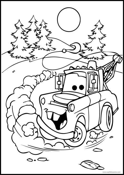 arabalar cekici boyama sayfasi