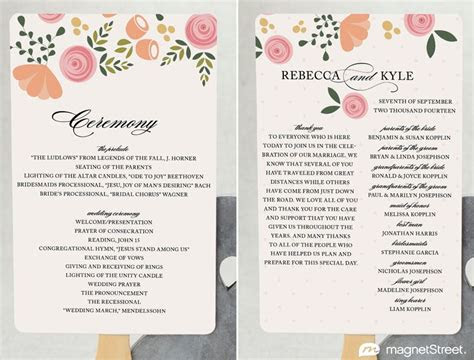 wedding program template word ideas  pinterest