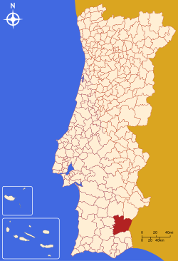 Localização de  Mértola