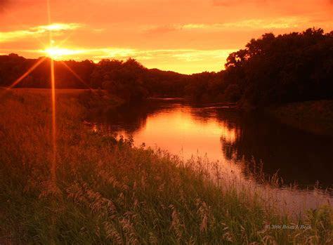 river bank sunset  high resolution hd desktop wallpaper