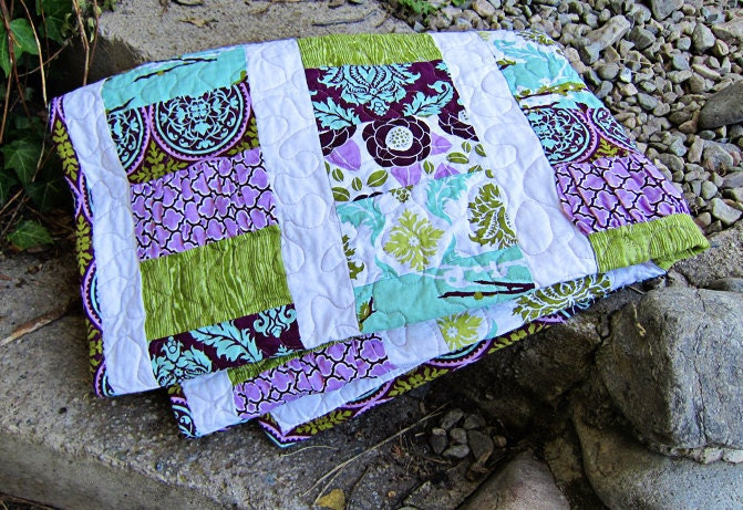 PDF Simple Sewing Pattern RANDOM RUFFLES baby size quilt,  from Yards and Yards, Simple and Easy
