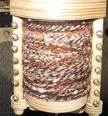 Full Bobbin, worsted weight, on the Bee