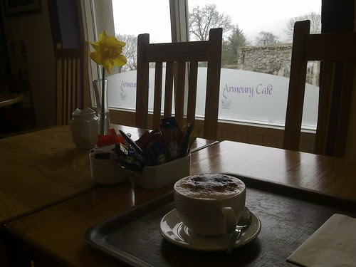 Cappuccino in Glencree (first time on my own!)