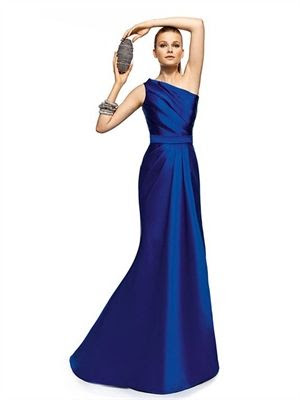 Royal Blue Sheath Asymmetrical Long Satin Prom Dress PD2264 www.simpledresses.co.uk £116.0000