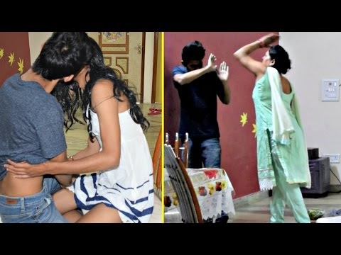 Kissing Girlfriend Prank On MOM (Gone Wrong) | AVRprankTV (Pranks in India)