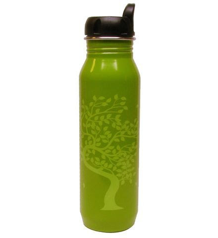 Gaiam Tree of Life Stainless Steel Water Bottle