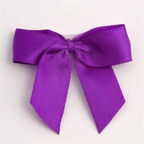 Purple Self Adhesive Satin Ribbon Satin Bows, Favour This