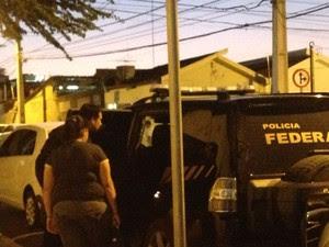 Gerente dos Correios presa (Foto: Divulgação/ Polícia Federal)