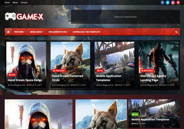 Game-X Blogger Template - Octa Template