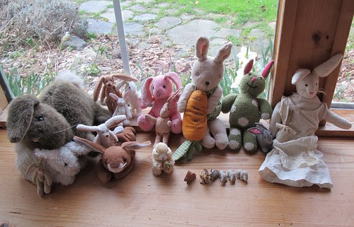 bunnies lined up