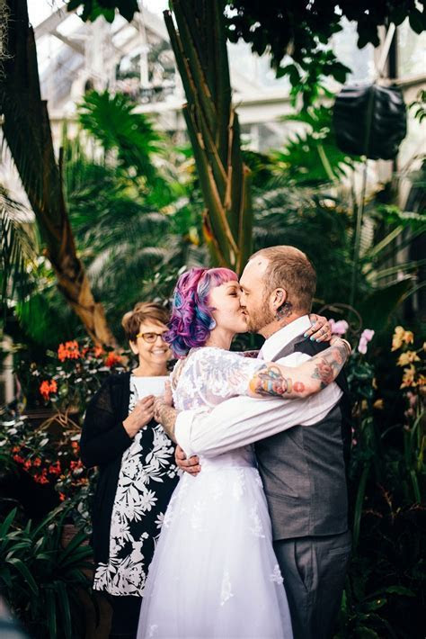 A tattoo artist and his tattooed bride at this Tacoma