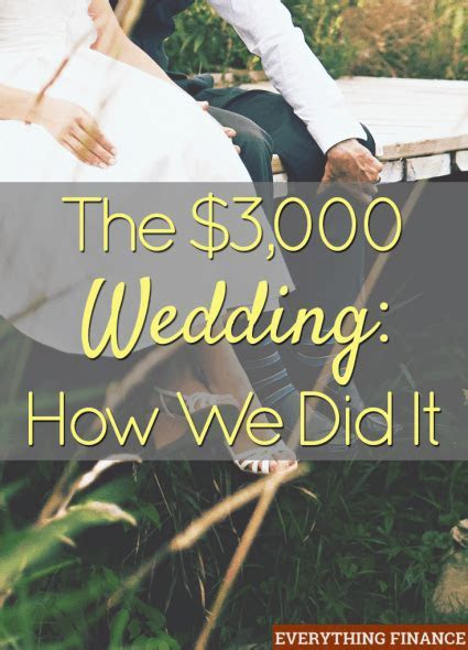 The $3,000 Wedding: How We Did It   Becoming K. Scovill ?