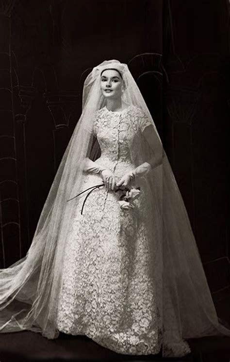 Vintage Christian Dior all lace wedding dress c. 1956