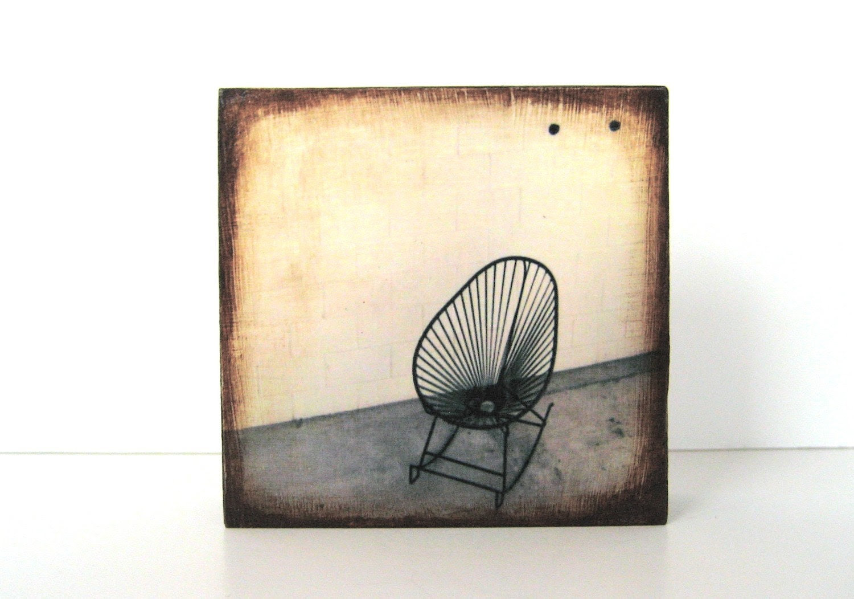 Mid Century Modern Patio Chair 4x4 Photo Block